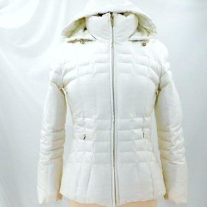 Calvin Klein White Down Filled Puffer Jacket